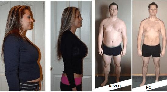 Widoczne efekty w odchudzaniu