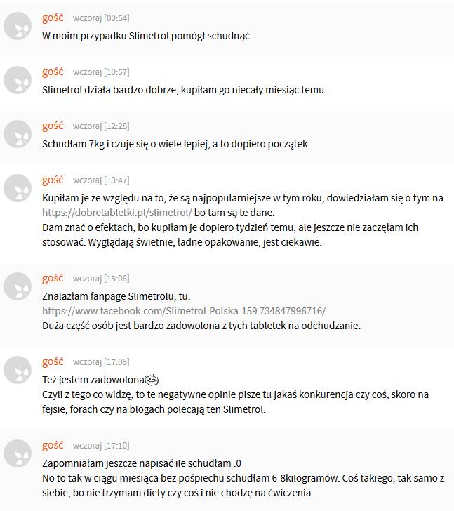 Slimetrol opinie