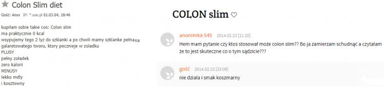 preparat na odchudzanie Colon Slim - opinie